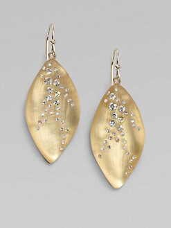 Alexis Bittar - Swarovski Crystal Accented Lucite Leaf Drop Earrings