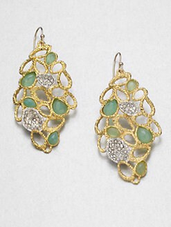 Alexis Bittar - Swarovski Crystal Accented Chalcedony Drop Earrings