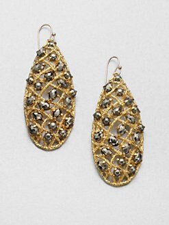 Alexis Bittar - Pyrite Woven Teardrop Earrings
