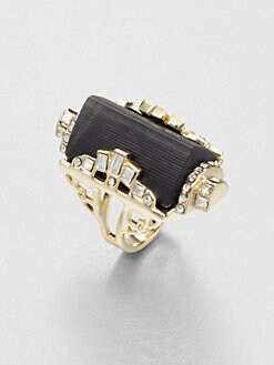 Alexis Bittar - Embellished Lucite Barrel Ring