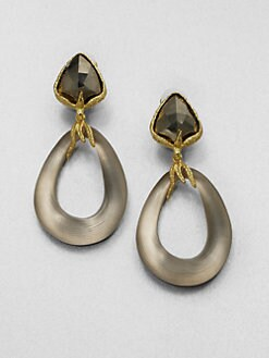 Alexis Bittar - Pyrite and Lucite Drop Earrings