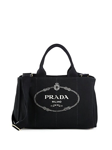 Logo-Print Medium Canvas Tote