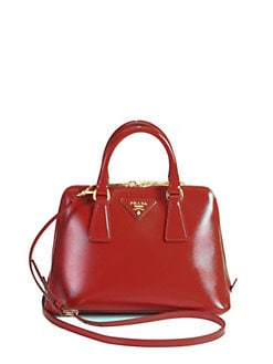 Prada - Saffiano Vernice Small Round Top Handle Bag
