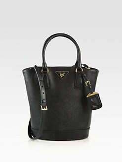 Prada - Saffiano Lux Convertible Bucket Bag