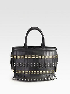 Prada - Fringed Double Handle Bag