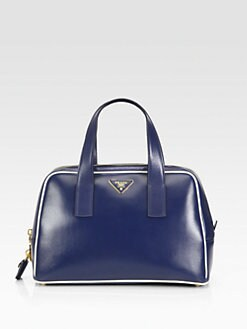Prada - Box Calf Zip Top Handle Bag