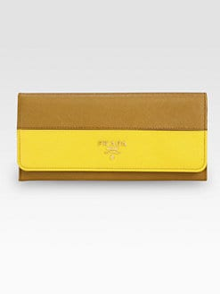 Prada - Saffiano Bi-Color Continental Wallet