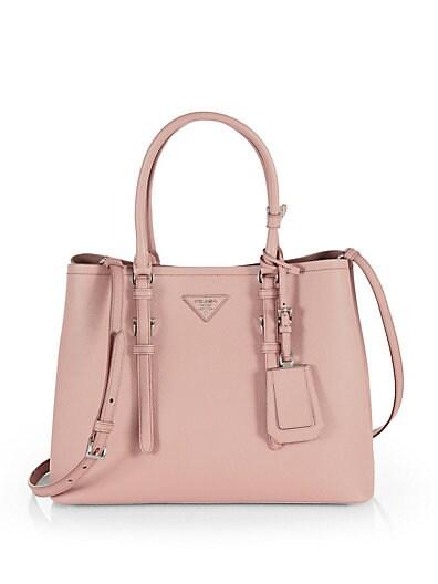 PRADA Khaki Canvas And Leather Convertible Top Handle Bag