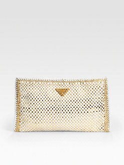 Prada - Madras Clutch