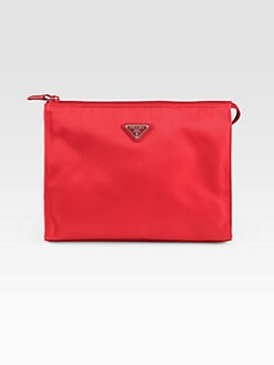 Prada - Vela Large Zip Nylon Cosmetics Case