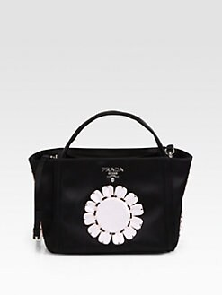 Prada - Raso Flower Satin Basket Bag