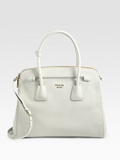 Prada - Saffiano Cuir Double Zip Top Handle Bag
