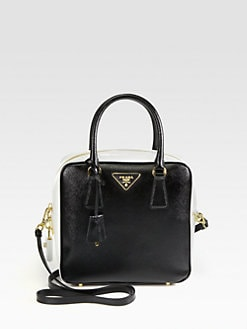 Prada - Bicolor Double Top Handle Bag