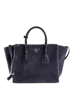 Prada - Suede Twin Pocket Tote