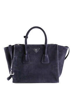 Prada - Suede Top Handle Bag