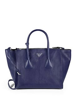Prada - Glace Calf Twin Pocket Tote