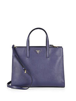 Prada - Saffiano Soft Triple Pocket Tote