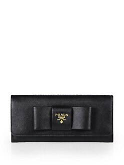 Prada - Saffiano Bow Continental Wallet