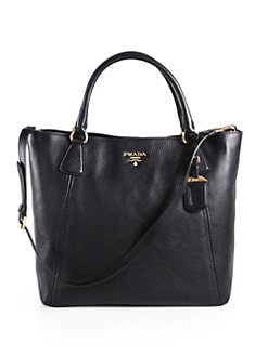 Prada - Vitello Daino Snap Top Tote