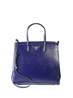 Prada - Saffiano Vernice Slim Top Handle Bag
