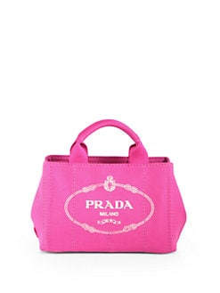 Prada - Logo Printed Small Canvas Tote