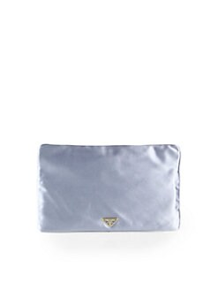 Prada - Raso Metallic Satin Pouchette