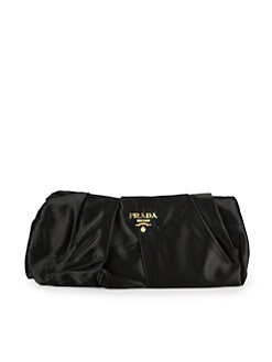 Prada - Pleated Satin Clutch