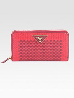 Prada - Madras Zip-Around Wallet