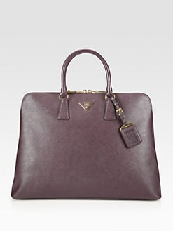 Prada - Saffiano Lux Large Top Handle Bag