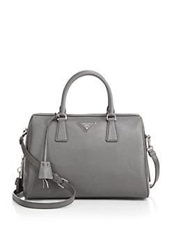 Prada - Saffiano Lux Bowler Satchel