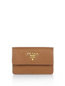 Prada - Saffiano Lux Flap Card Case