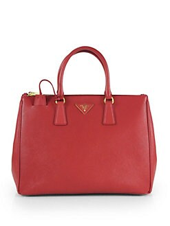 Prada - Saffiano Lux Double-Zip Tote Bag