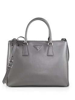 Prada - Saffiano Medium Double Zip Top Handle Bag