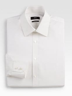 BOSS Black - Solid Dress Shirt
