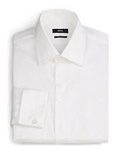 BOSS Black - Regular-Fit French Cuff Dress Shirt