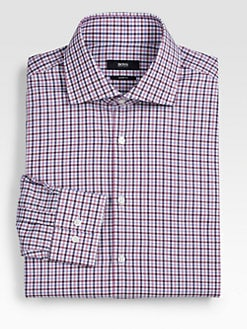 BOSS Black - Miles Hand Loom Gingham Dress Shirt