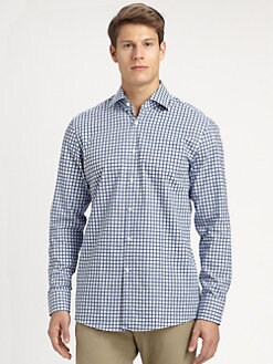 BOSS Black - Checked Cotton Sportshirt