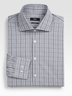 BOSS Black - Miles Windowpane Dress Shirt