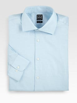 Ike Behar - Textured Cotton Dress Shirt
