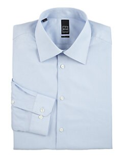 Ike Behar - Slim-Fit Microcheck Dress Shirt