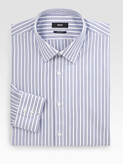 BOSS Black - Textured-Stripe Dress Shirt