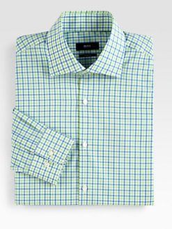 BOSS Black - Checked Cotton Dress Shirt