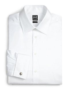 Ike Behar - Solid Cotton Dress Shirt
