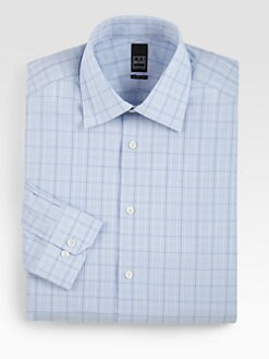 Ike Behar - Slim-Fit Check Dress Shirt
