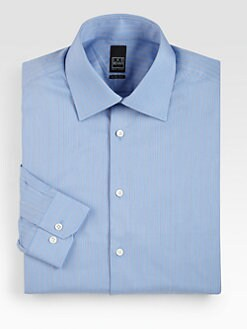 Ike Behar - Slim-Fit Striped Dress Shirt
