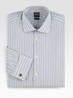 Ike Behar - Striped Cotton Dress Shirt
