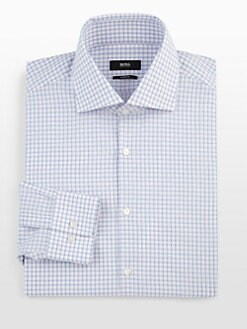 BOSS Black - Pastel Plaid Dress Shirt