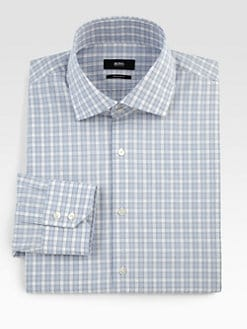 BOSS Black - Plaid Dress Shirt