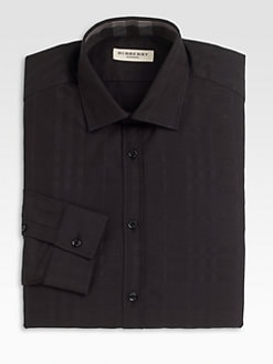 Burberry London - Tonal Plaid Dress Shirt