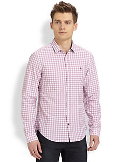Burberry London - Check Cotton Sportshirt